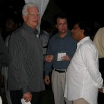 Fmr BCCI Pres. Peter Boos conferring with Dr Avinash Persaud of Intelligence Capital