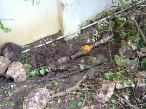 Water line valve locked & disconnected pipe as ordered by the Barbados Water Authority