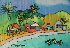 Angie Teversham's take on a Bajan bar by the beach