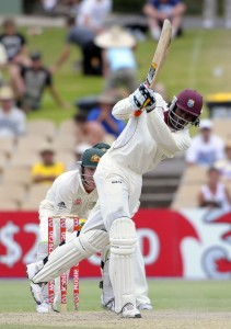 Chris Gayle goes on the attack during his unbeaten 155 - Gordon Brooks photo and DigicelCricket.com