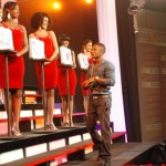 Christopher Martin Examines the girls on Digicel Deal or No Deal