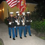"""Racial Harmony & Integration with Marine's precision """"Display of Honor"""" as tight march is almost like a dance"""