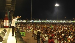 Jah Cure in action last year in St Martin