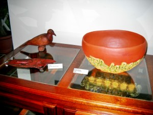 """The bowl is """"Cerebral Inspiration"""" while the carvings are from the prolific solo-named Black"""