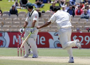 Ricky Ponting is bowled by Ravi Rampaul - Gordon Brooks photo and DigicelCricket.com