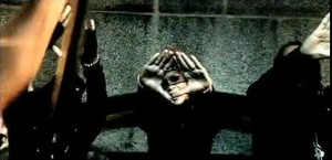 Rihanna making Rocafella/Illuminati sign - a left eye inside a triangle