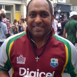 Rohan Kallicharan at a West Indies match during the ICC World Twenty20 Championship in England - Photo courtesy of Rohan Kallicharan