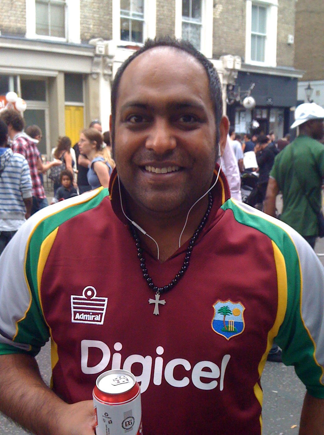 Rohan Kallicharan at a West Indies match during the ICC World Twenty20 Championship in England Photo courtesy of Rohan Kallicharan