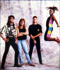 """Michael """"Smasher"""" Cadogan (in the air) was drummer #2, Ifie would be 3rd... SPICE & CO."""