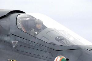 Lieutenant Kara Wade ready for take-off