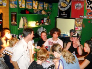 Mobbed after the show, the band autographed T-shirts and posters or the occasional wrist!