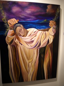 St Bathsheba holding by some strands of Faith - R. Alleyne