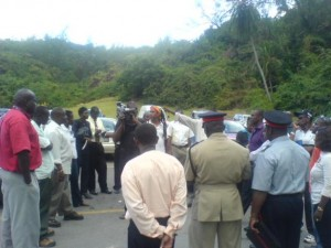 NCF personnel and others congregate at Bath for site visit ahead of Errol Barrow Day celebrations on January 21