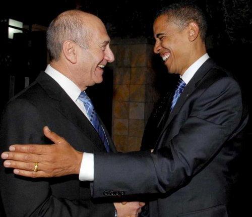 Olmert Obama