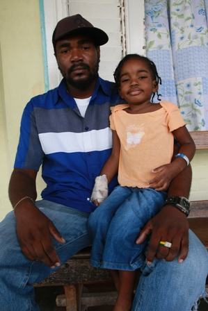 Rohan Francis and his daughter Brinae who is a patient at the hospital