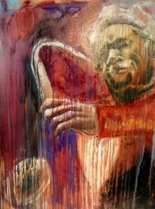 Saxophonist 40 x 30 Oil on Canvas, $1250 USD