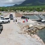 The original Sea Bridge (left) and Sea Bridge 2 docked at the Cades Bay landing site in Nevis