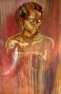 Vie de la Pousierre 60 x 48, Oil on Canvas $3,000 USD