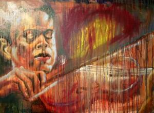 Violinist 30 x 40 Oil on Canvas, $1250