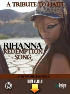 """Rihanna also encouraged her fans to support relief efforts by performing Bob Marley's """"Redemption Song"""" Wednesday on Oprah."""