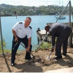 A groundbreaking ceremony was held on Wednesday the 20th of January, 2010 at the Marine Base at Vigie, Castries, marking the commencement of the construction of the piers.