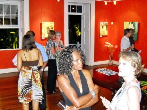 """Some of the throng at Lancaster at """"Colours Of Hope II's"""" opening"""