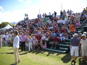 Part of the massive crowd that famous day at Apes Hill