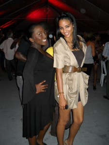 Designer Toni Thorne {LEFT} & Ms World (B'dos) Leah Marville {RIGHT}