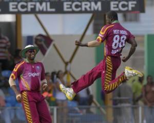 Darren Sammy celebrates the wicket of Timicen Maruma - Brooks La Touche Photography and DigicelCricket.com