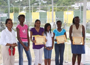 2009 World Poetry Day Winners and Mrs. Alison Flax-Archer, Secretary General of BVI National Commission for UNESCO