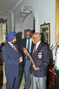 His Excellency KJ Sodhi commenting on the baton