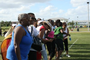 Fans at the 2009 All Girls Schools Alumni Penalty Kick-off