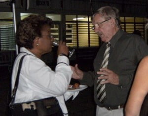 Patron Dame Billie Miller chats with Architect Mr Voss