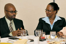 BPWCCUL Managers: Irwin Gibson (IT Manager) and Susan Yaw (Operations Manager)