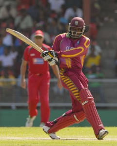 Chris Gayle pulls powerfully for a boundary - Brooks La Touche Photography and DigicelCricket.com