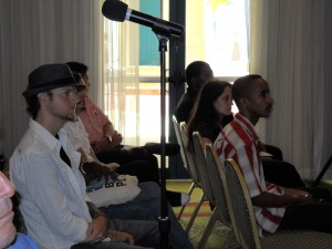 By the Q&A Mic, to the right is Sir Ruel - he's among the many performers expected to display their Talent on April 24th