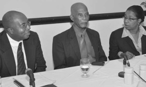 L to R - Dean St. Hill, 40th Anniversary Planning Chairman; Anthony Griffin, President and Clorinda Alleyne, Chief Executive Officer