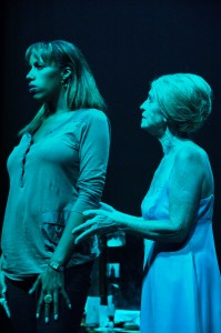 """Vi/Caroline Gardiner poses """"Why were you so impatient with me?"""" to Mary/Endy McKay in one of the plays more tender moments {All photos courtesy Matthew Murrell & Gale Theatre}"""