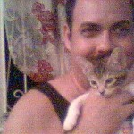 Simon was about six weeks here, my hair was much darker, sigh!