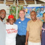 Members of the Irietimes.com team at a recent broadcast on the web at Sandals Royal Caribbean, Jamaica