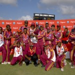 Windies team celebrate victory - Randy Brooks photo and DigicelCricket.com