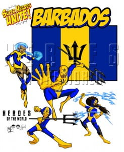 Heroes Of The World Barbados Contingent - site is right-click protected