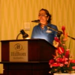 Skyviews Managing Director - Jessica Bensley, speaking at the Hilton recently
