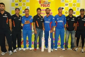 "Afghanistan and Indian Cricketers ""Bowl Out Polio"" Together in ICC World Twenty20 Tournament"