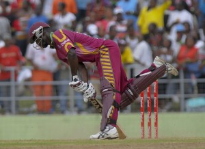 Darren Sammy digs out a yorker - Randy Brooks photo and DigicelCricket.com