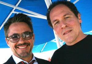L to R - Stark/Downey Jr & Favreau/IM2 Dir/Hogan
