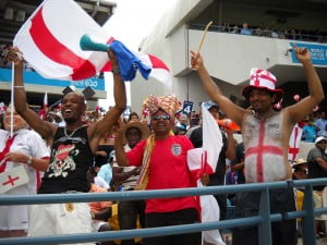 Some of the many Indian supporters who stayed over and altered their allegiances