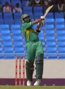 Hashim Amla pulls for four - Randy Brooks photo and DigicelCricket.com