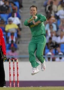 Johan Botha bowls during his 3 for 22 - Randy Brooks Photo and DigicelCricket.com