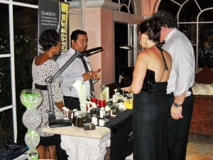Patrons examining some of the scintillating items on display to help 'Sport For Life!'